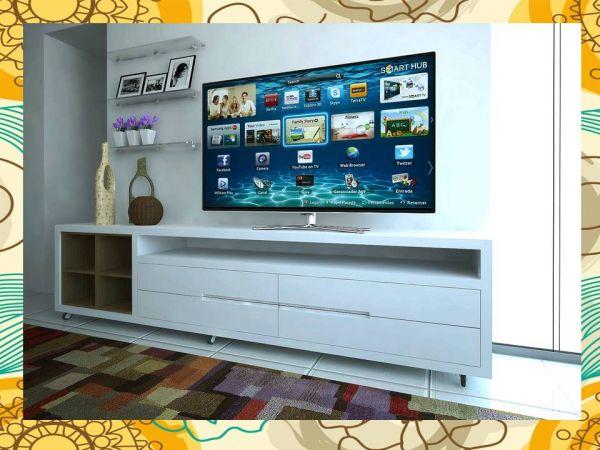 Sala De Tv Com Rack ~ Linha Alta Retro rack de sala para tv  Aurora Design ppd